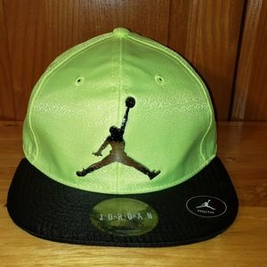 NWT Air Jordan Baseball Cap Lime Green Youth